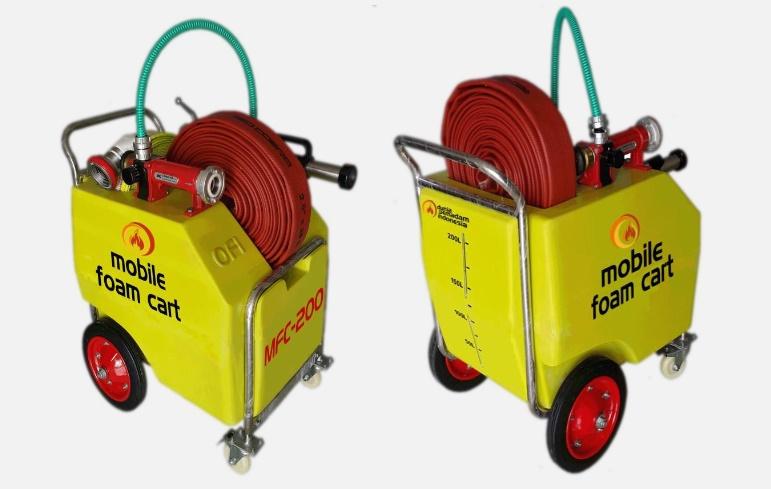 mobile foam trolley
